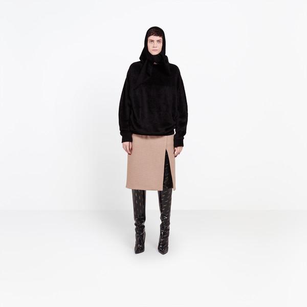 BALENCIAGA Knitwear Woman Headscarf Crewneck g