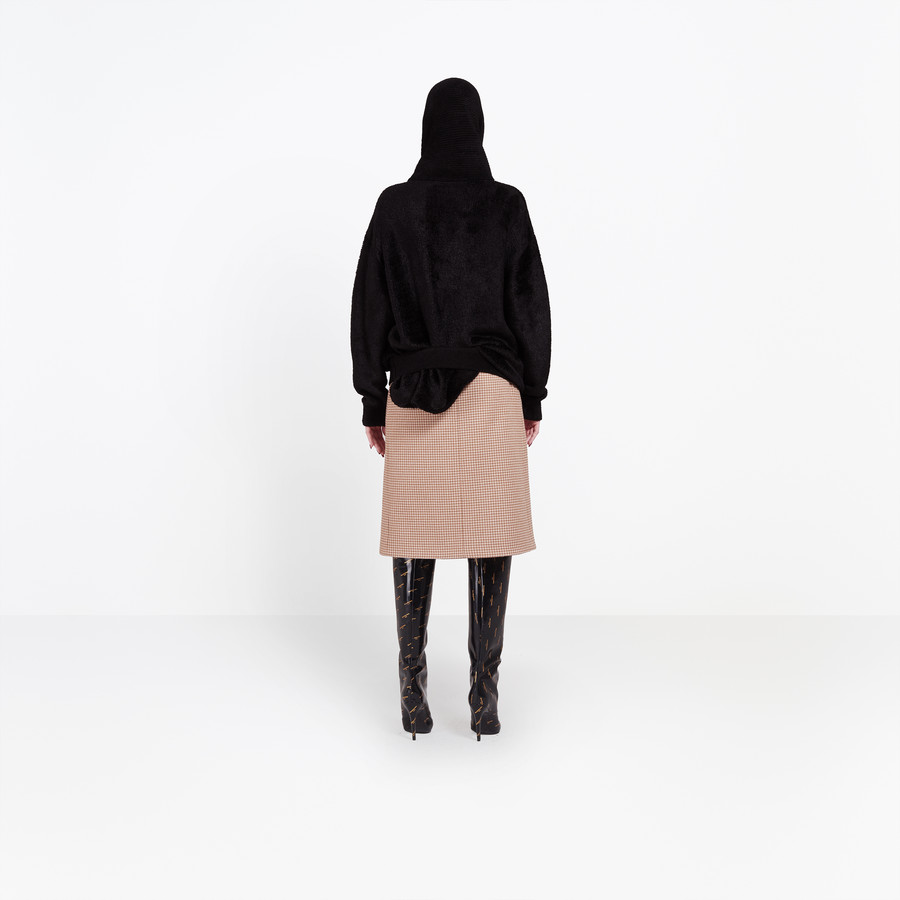BALENCIAGA Headscarf Crewneck Knitwear Woman d