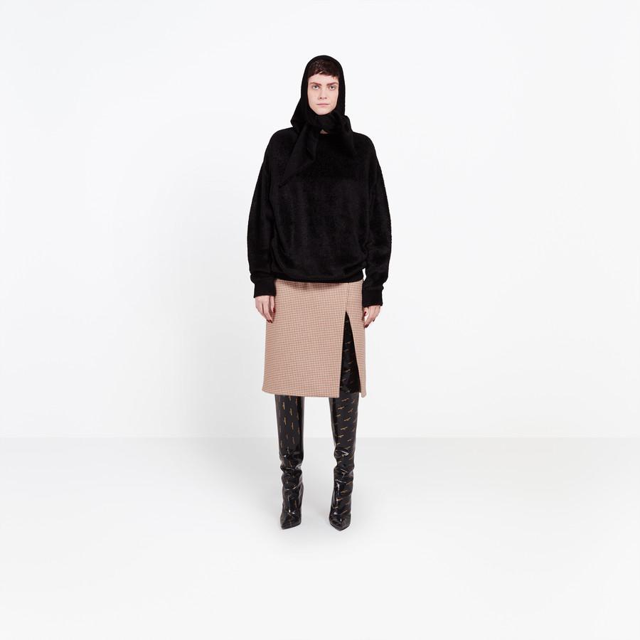 BALENCIAGA Headscarf Crewneck Knitwear Woman f