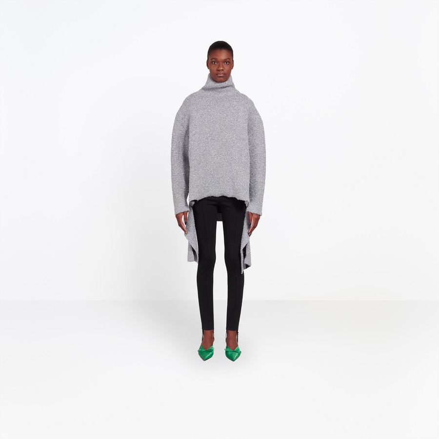 BALENCIAGA Lurex Draped Sweater Knitwear D g