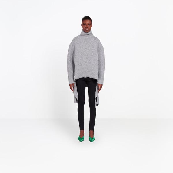 BALENCIAGA Knitwear Woman Lurex Draped Sweater g