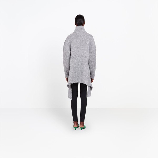 BALENCIAGA Knitwear Woman Lurex Draped Sweater h