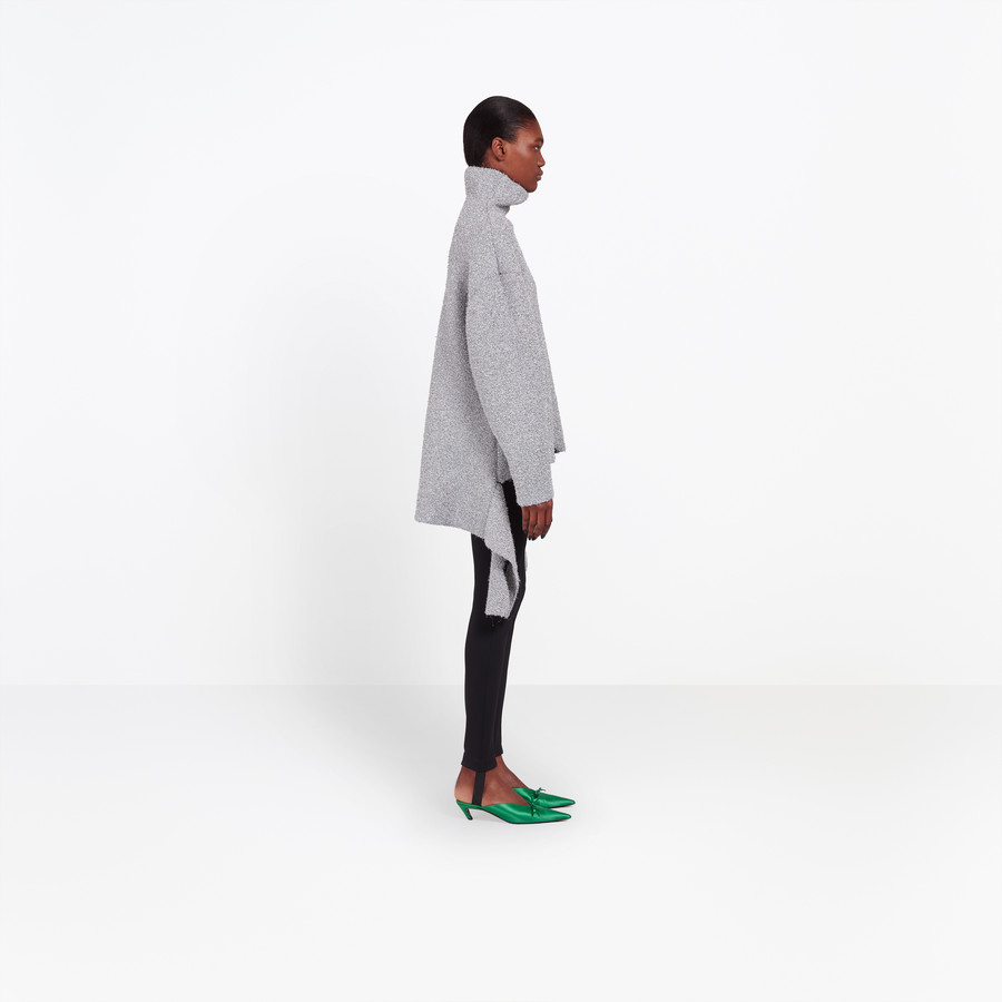 BALENCIAGA Lurex Draped Sweater Knitwear Woman i