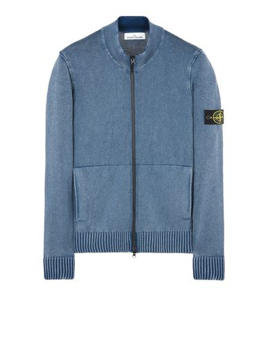 STONE ISLAND Cardigan 502D4 WHITE FROST
