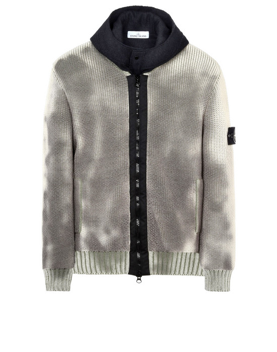 STONE ISLAND Cardigan 583B4 ICE KNIT_THERMO SENSITIVE YARN_PRESIDENT'S KNIT