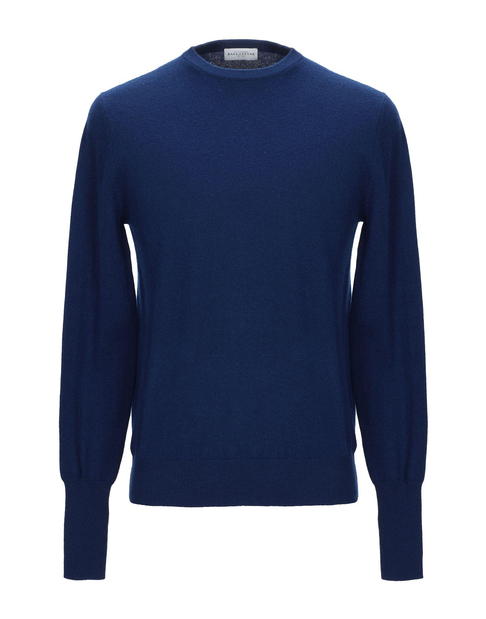 《セール開催中》BALLANTYNE メンズ プルオーバー ブルー 48 カシミヤ 100%