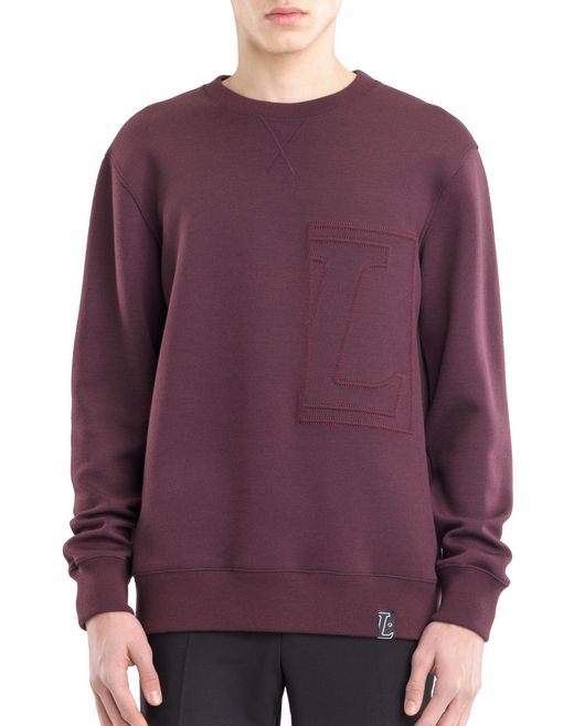 "lanvin sweatshirt with ""l"" appliqué men"