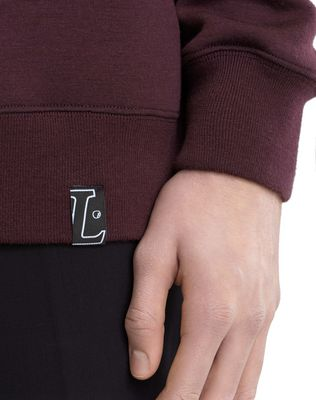 "LANVIN SWEATSHIRT WITH ""L"" APPLIQUÉ Knitwear & Sweaters U b"