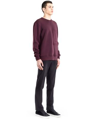 "LANVIN SWEATSHIRT WITH ""L"" APPLIQUÉ Knitwear & Sweaters U e"