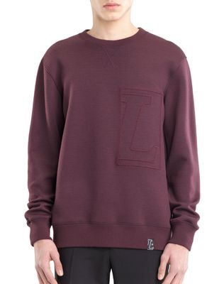 "LANVIN SWEATSHIRT WITH ""L"" APPLIQUÉ Knitwear & Sweaters U f"