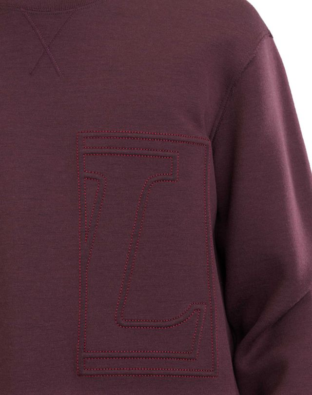 "LANVIN SWEATSHIRT WITH ""L"" APPLIQUÉ Knitwear & Sweaters U a"