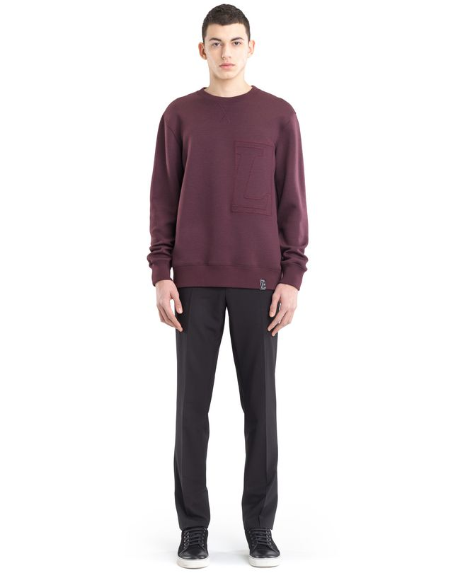 "LANVIN SWEATSHIRT WITH ""L"" APPLIQUÉ Knitwear & Sweaters U r"