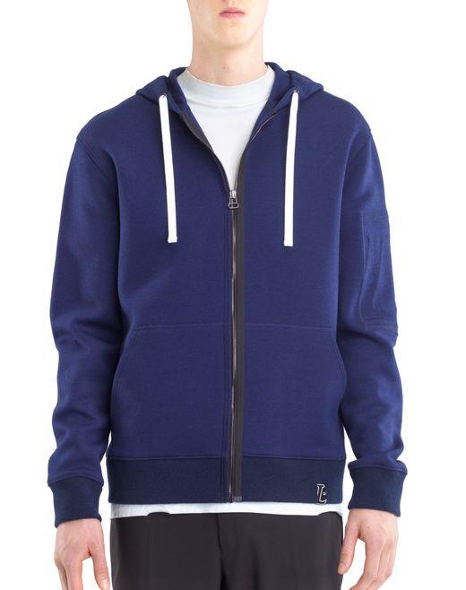 lanvin compact jersey hoodie men