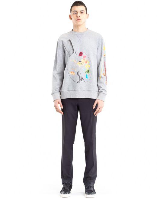 """lanvin sweatshirt mit """"palette""""-print von cédric rivrain für-ihn"""