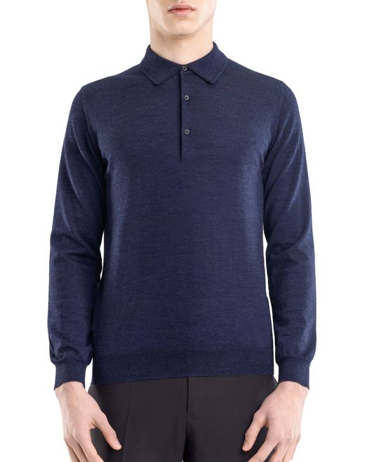 lanvin polo collar sweater men