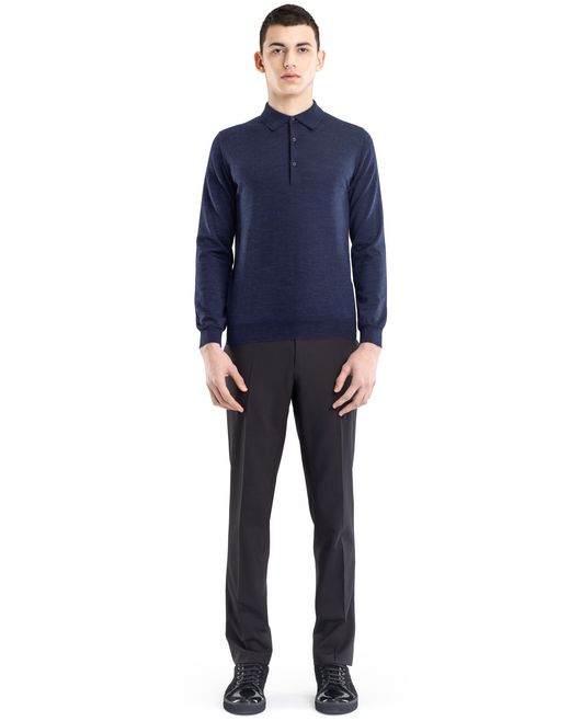 lanvin polo collar jumper men