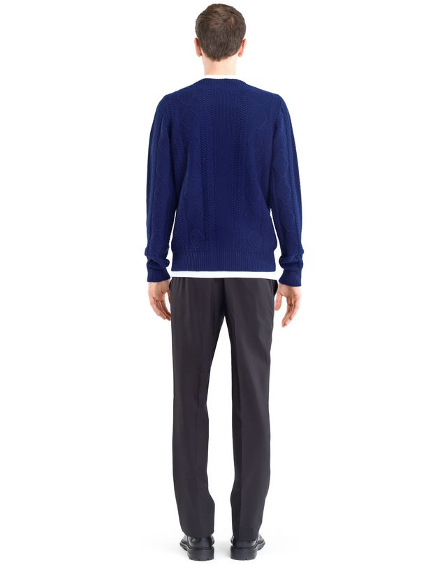 LANVIN MIXED STITCH CREW NECK JUMPER Knitwear & Jumpers U d