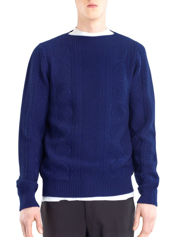 LANVIN MIXED STITCH CREW NECK JUMPER Knitwear & Jumpers U f