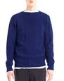 LANVIN Knitwear & Sweaters Man MIXED STITCH CREW NECK SWEATER f