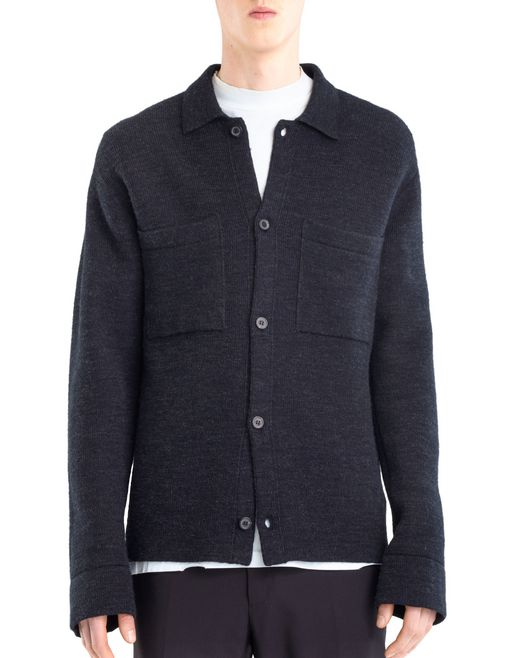 lanvin weft stitch cardigan  men