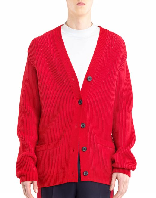 lanvin knit cardigan men
