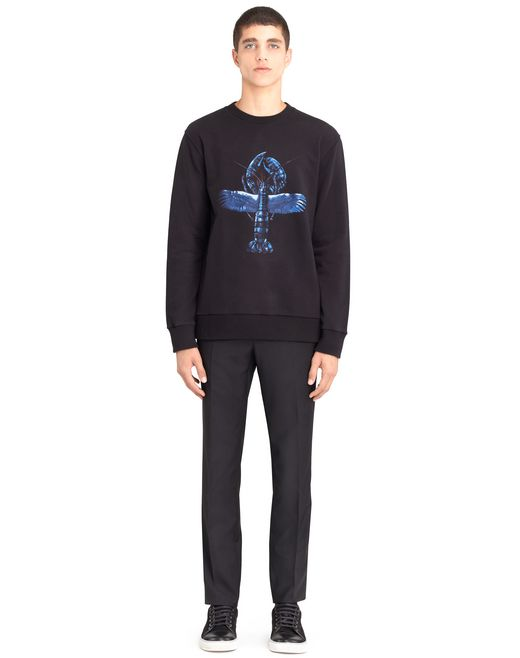 lanvin printed sweatshirt   men
