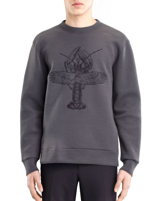 "lanvin ""flying lobster"" sweatshirt men"
