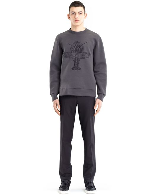 lanvin embroidered sweatshirt men