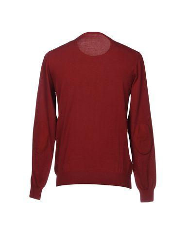 Фото 2 - Мужской свитер PAOLO PECORA красно-коричневого цвета