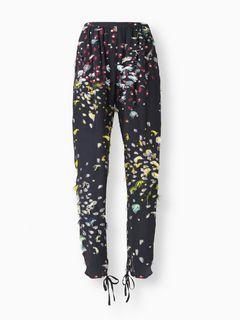 Pantaloni con lavorazione multicolore