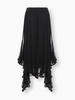 Flou zigzag skirt