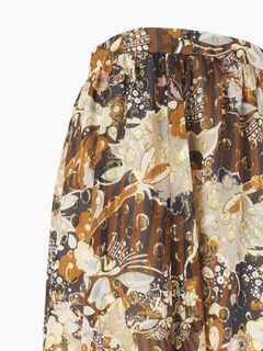 Printed flou skirt