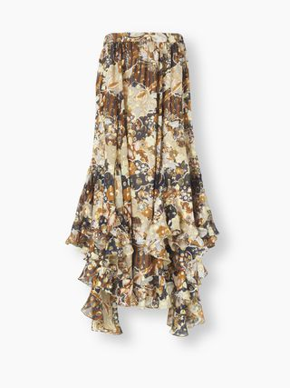 Printed flou skirt