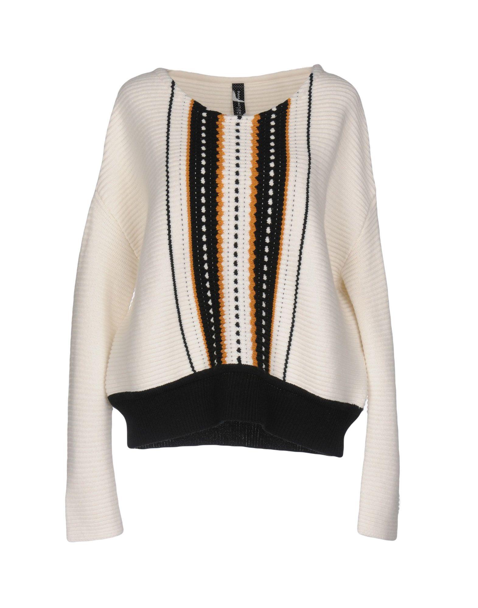 PIANURASTUDIO Damen Pullover Farbe Weiß Größe 6