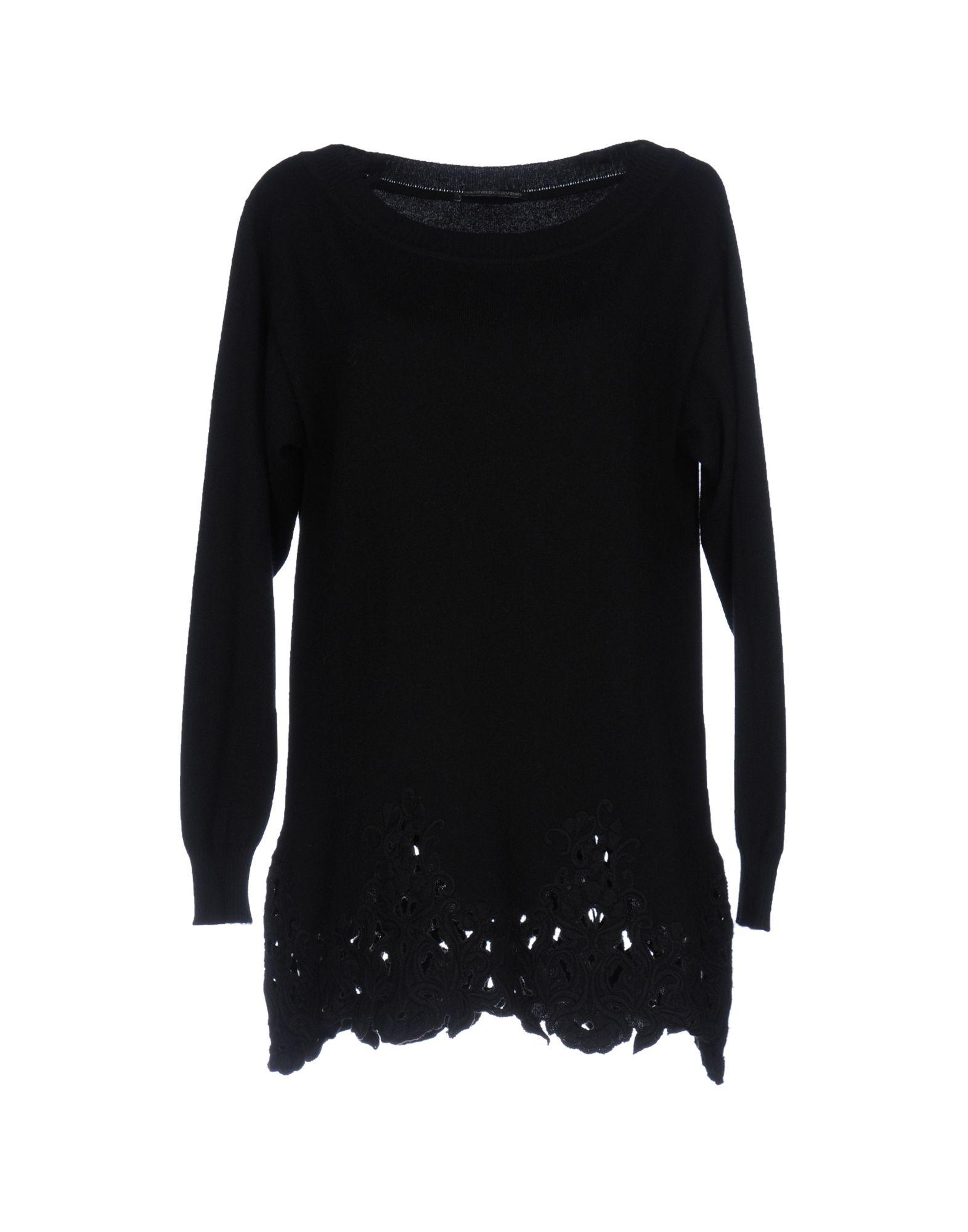 ERMANNO SCERVINO Damen Pullover Farbe Schwarz Größe 2
