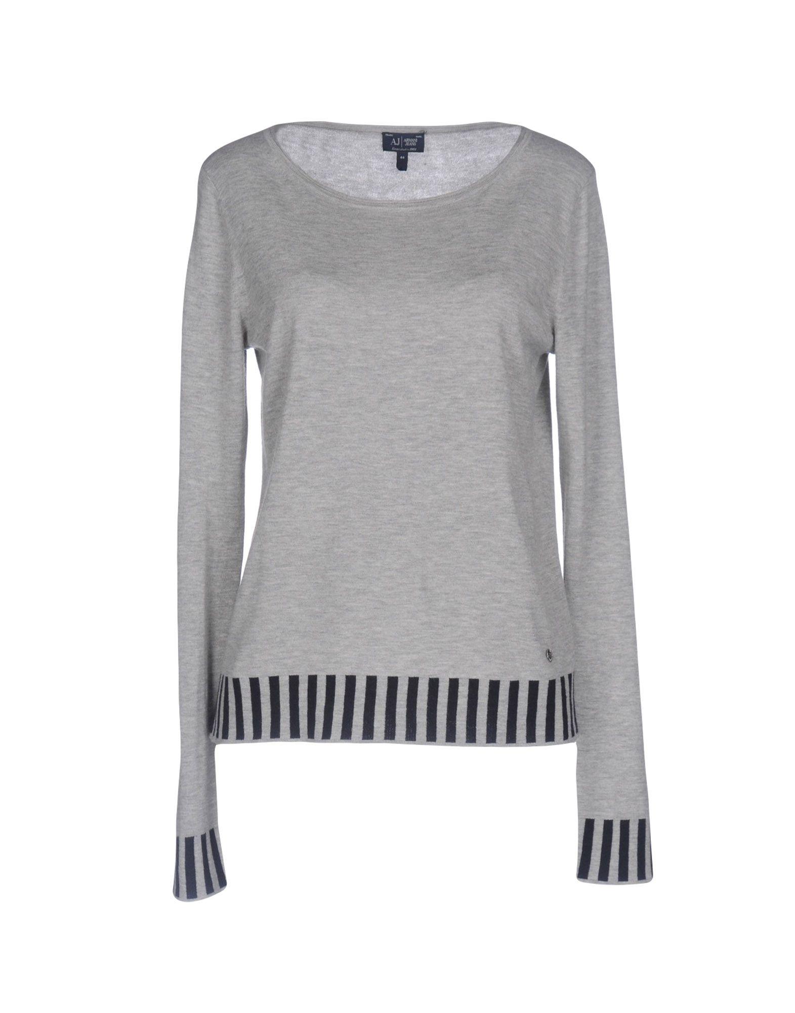 ARMANI JEANS Damen Pullover Farbe Hellgrau Größe 4