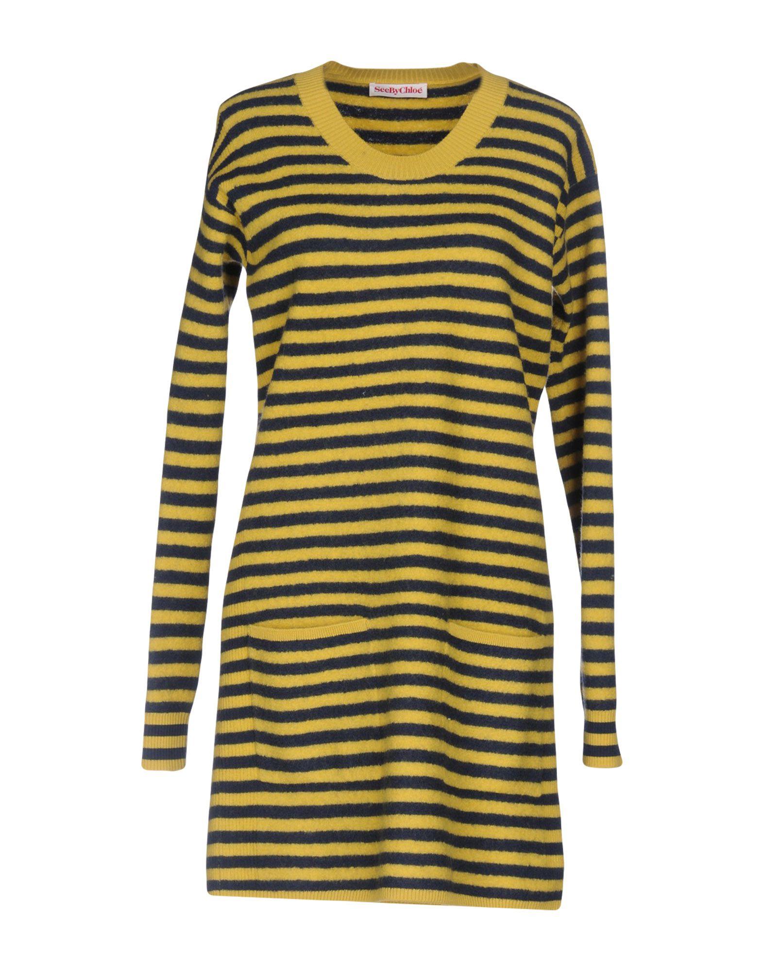 SEE BY CHLOÉ Damen Kurzes Kleid Farbe Gelb Größe 4