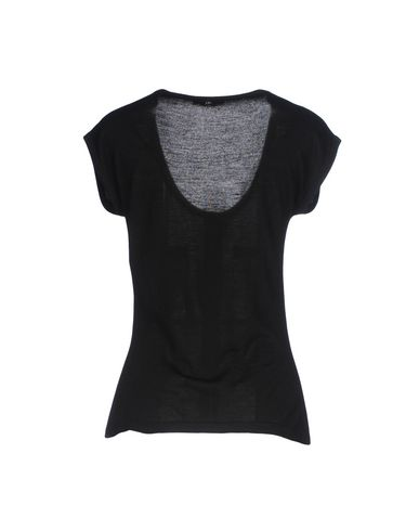 VERSACE COLLECTION Damen Pullover Schwarz Größe 36 80% Viskose 20% Wolle