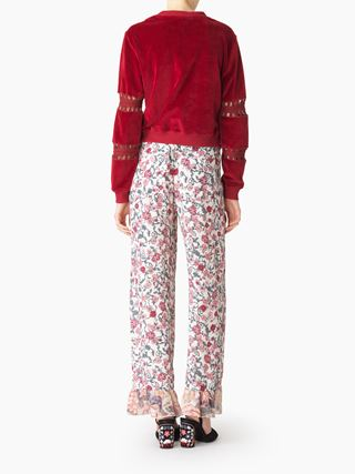 Feminine wide leg pants