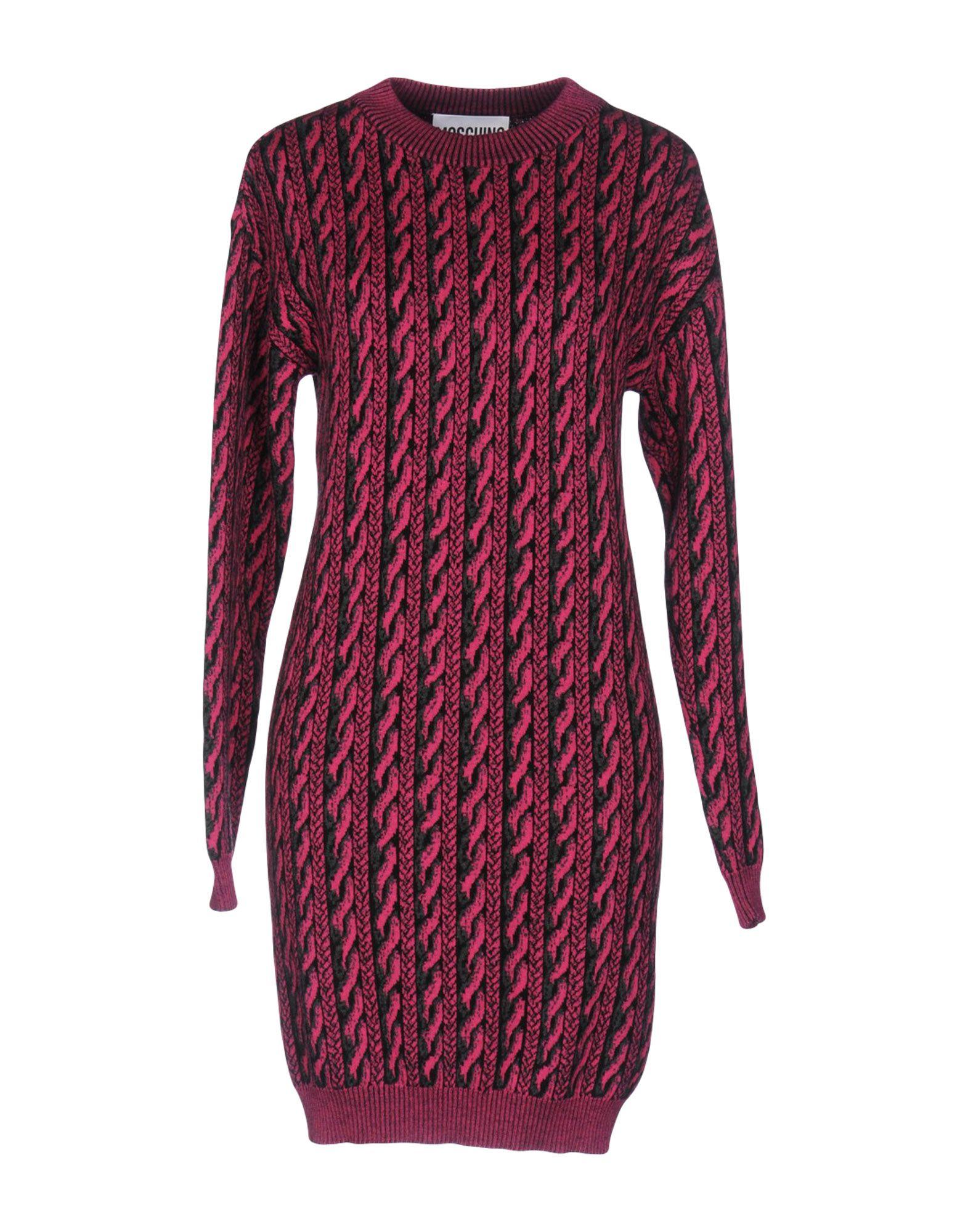 MOSCHINO COUTURE Damen Kurzes Kleid Farbe Fuchsia Größe 7