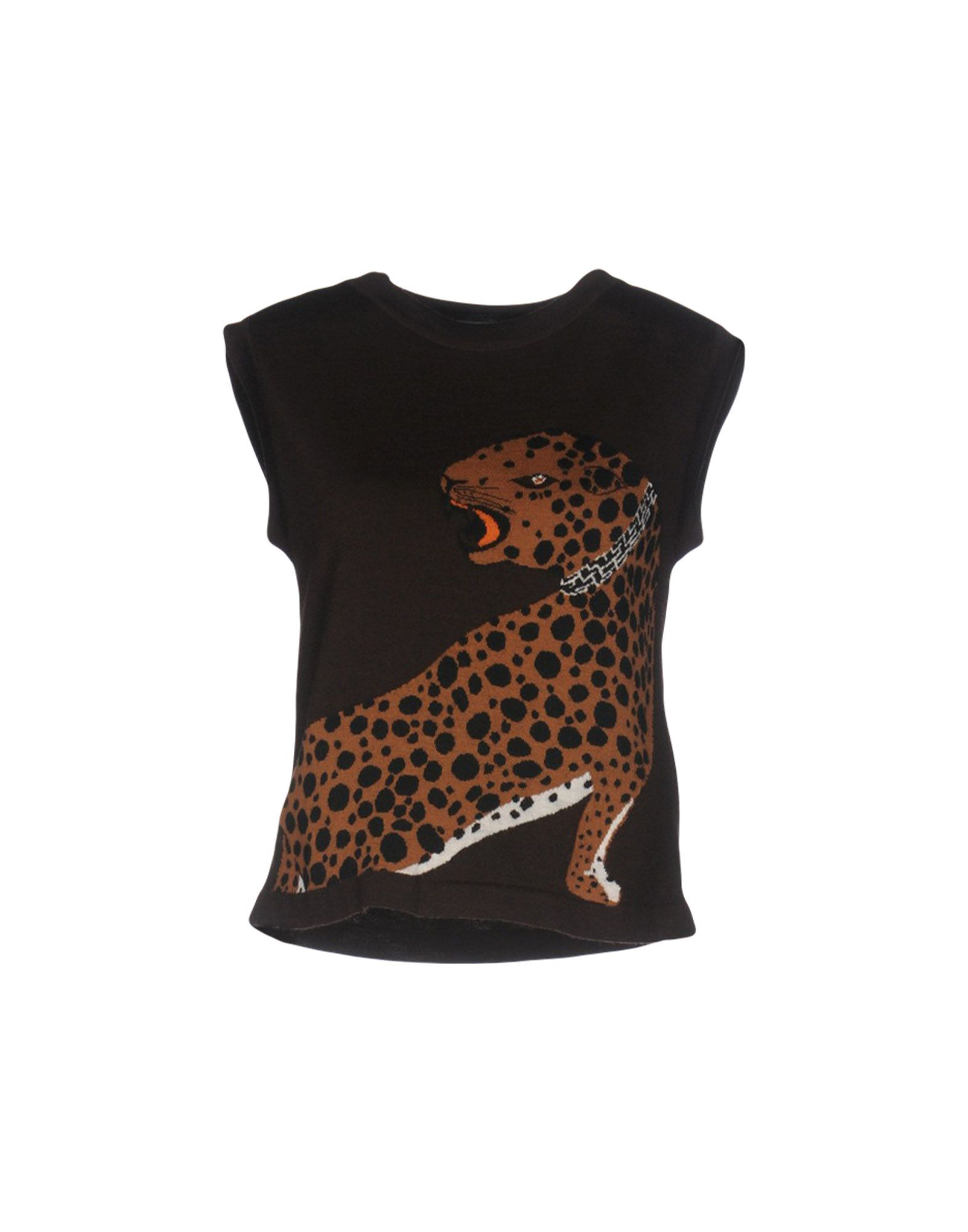 ALBERTA FERRETTI Damen Pullover Farbe Dunkelbraun Größe 4 - broschei
