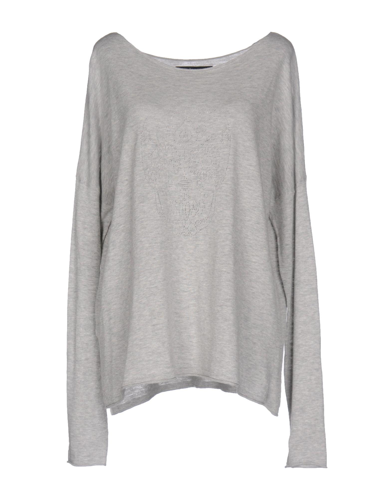 SKULL CASHMERE Damen Pullover Farbe Hellgrau Größe 6 - broschei