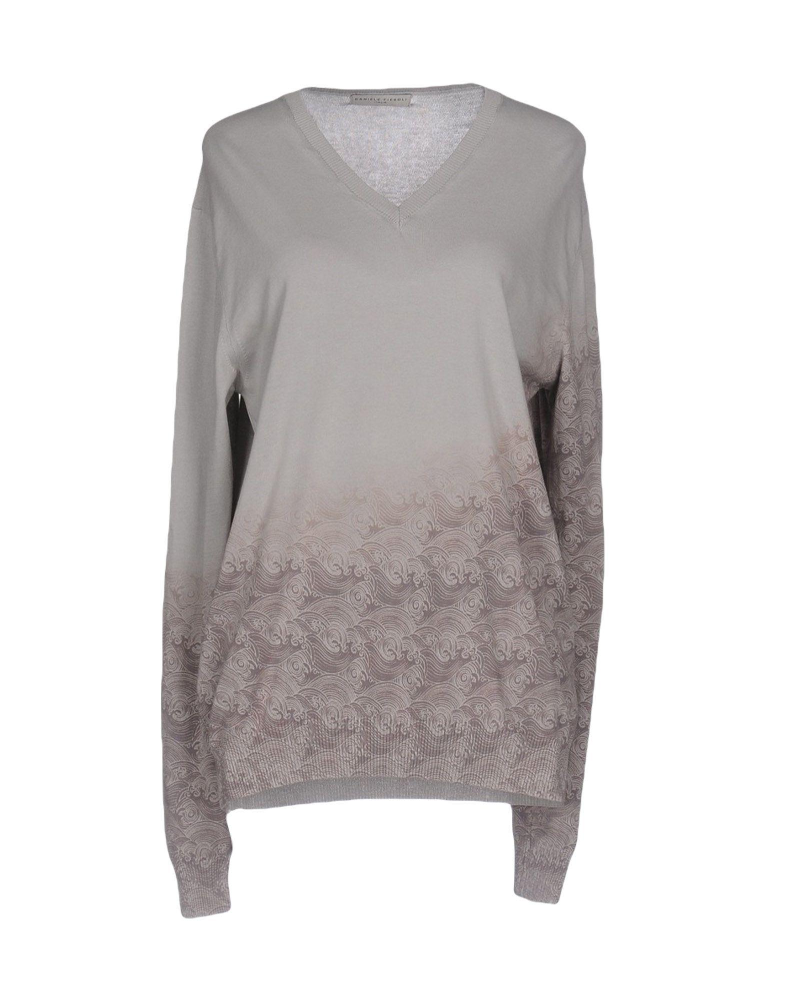 DANIELE FIESOLI Damen Pullover Farbe Hellgrau Größe 6 - broschei