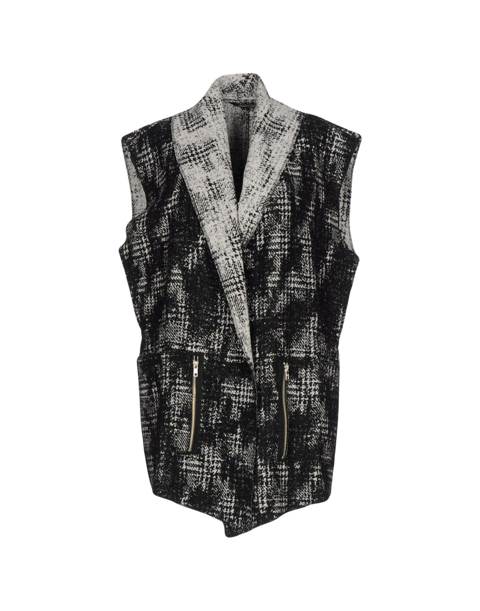 DANIELE ALESSANDRINI Damen Lange Jacke Farbe Schwarz Größe 7 jetztbilligerkaufen