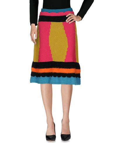 <YOOX> REDValentino レディース 7分丈スカート フューシャ XL コットン 100% / モヘヤ / ウール / ナイロン画像