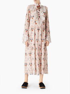 Folk midi dress