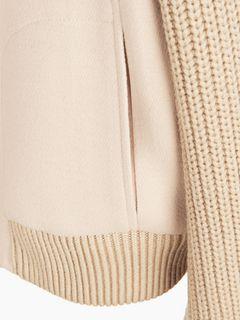 Ribbed-trim jacket