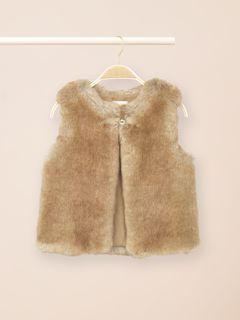 Fur like waistcoat