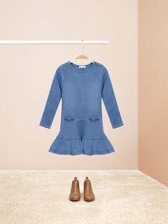 Ruffled hem dress