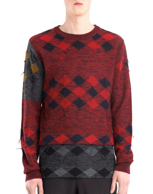 lanvin patchwork jumper men